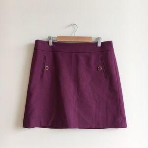 Ann Taylor LOFT Maroon Mini Skirt